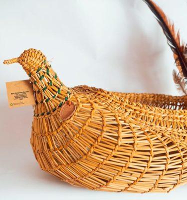 Trabajos tejidos con fibra vegetal - Decoración Hogar